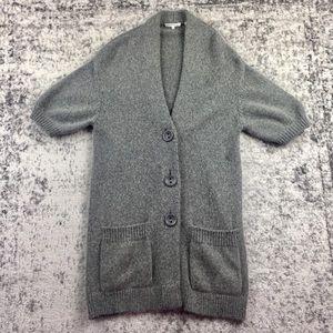 VINCE Long Alpaca Wool Cardigan